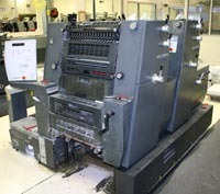 2 color printing press
