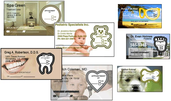 appointment sticker examples