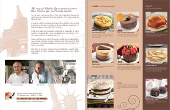 three panel brochure unfolded