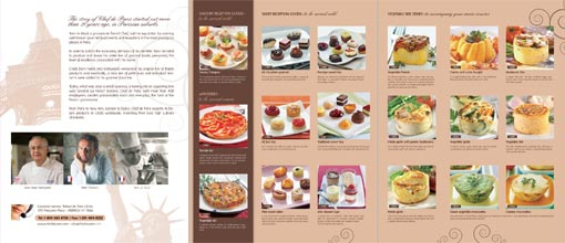 3 panel brochure inside spread