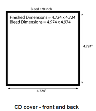 Cd cover size specifications for Cd dimensions template
