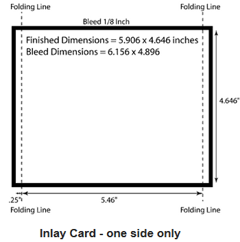 Cd cover size specifications for Cd inlay template