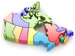Canadian Province map