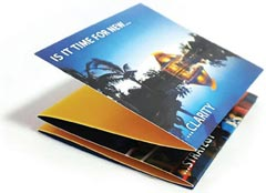 brochure on cover stock