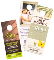 Custom Door Hanger Printing Options