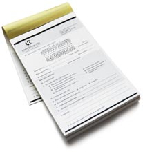 Carbonless NCR Forms Printing Invoices And Receipt Books - Custom carbon invoice book