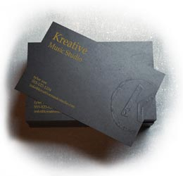Embossed Business Cards and Business Card Embossing