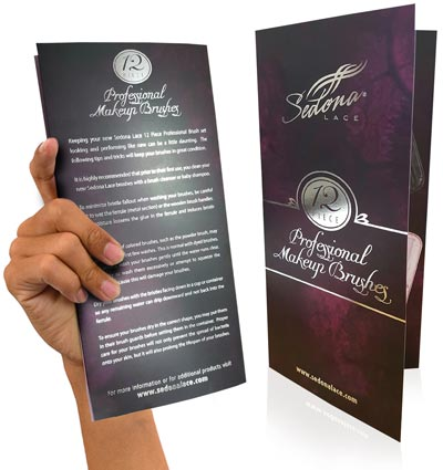 foil stamping on a brochure