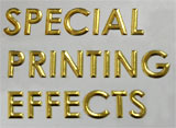 Foil Stamping and Embossing Sample