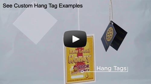 Custom Hang Tag Printing with Drilled Holes and Strings