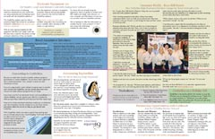 quarter fold newsletter example