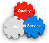 quality value and service