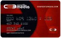 simulated credit card business card