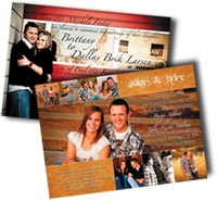 full color wedding announcements