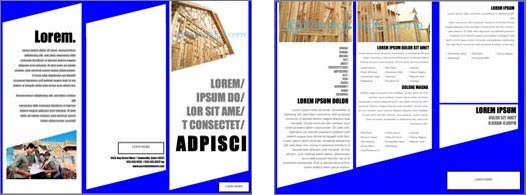 Template For Word Brochure  Ms Word Pamphlet Template