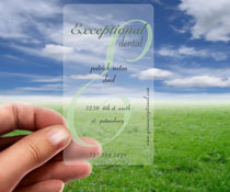 clear business cards - Clear Business Cards