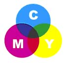 CMYK colors with ink