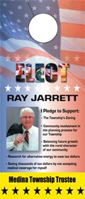 Political Door Hanger Printing Samples and Design Examples