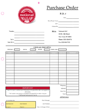 3 part 4 color business form