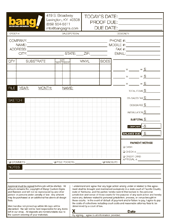 PMS color invoice form