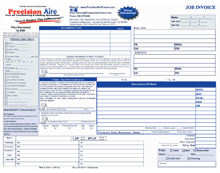 4 color horizontal invoice form