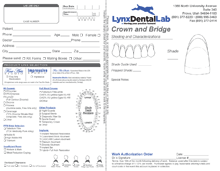 horizontal dental work form