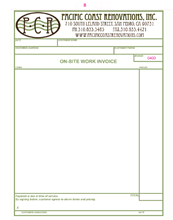 construction work invoice form