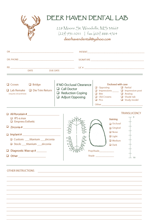 custom dental work form