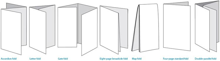 fold types for commercial printing