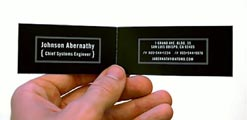 double business cards