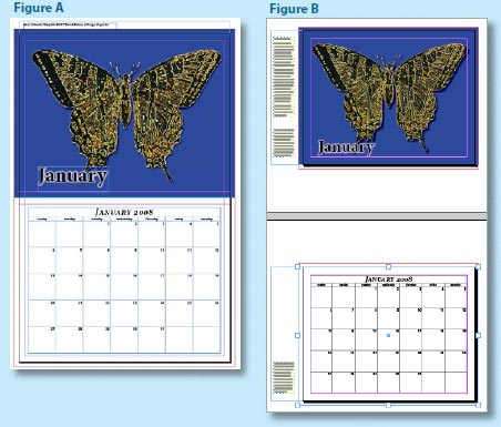 Esempio di layout del calendario di InDesign