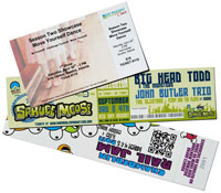 ticket printing examples