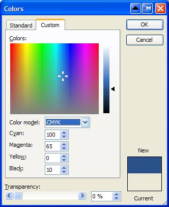 publisher color selector