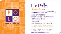 business card with 2 rounded corners