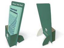 brochure holder printing and rack card holder printing - Paper Brochure Holder Template